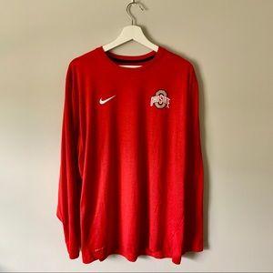 Nike - Men's Ohio State Long Sleeve Tee